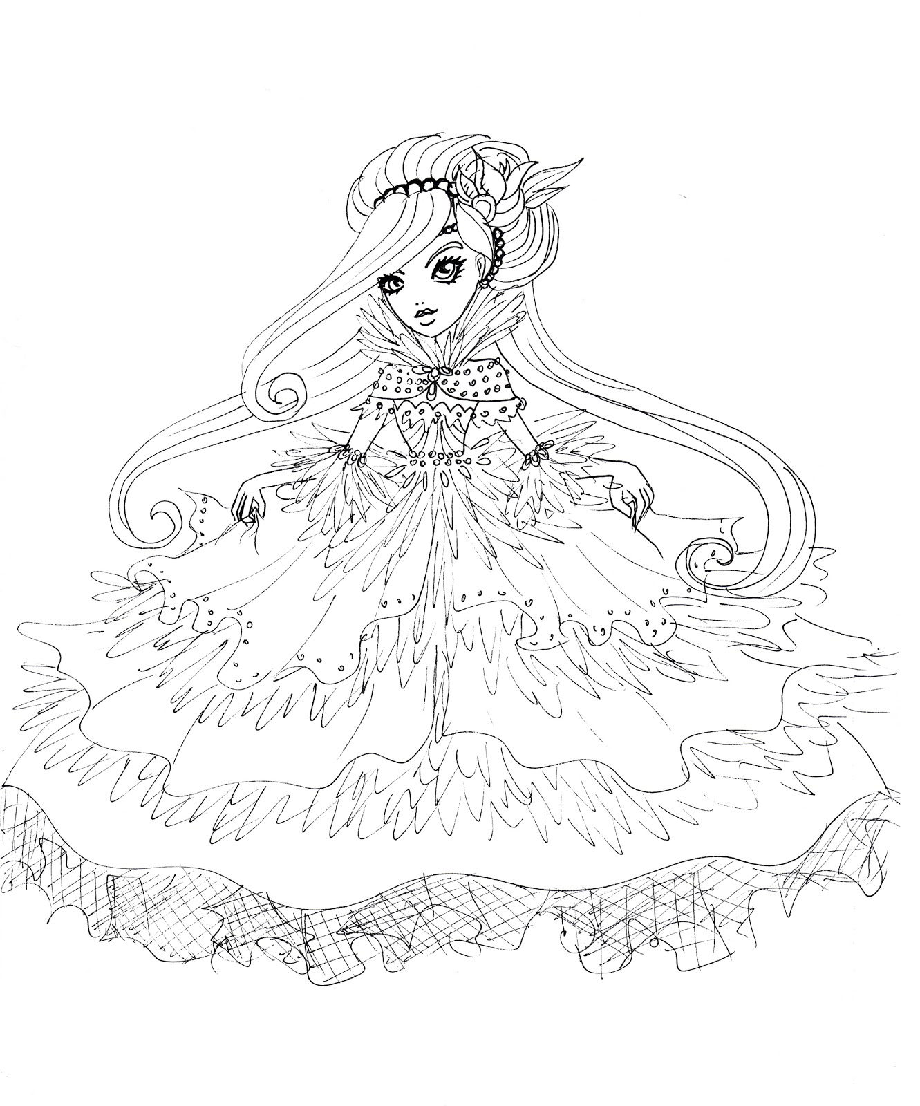 ever after high coloring pages to download and print for free