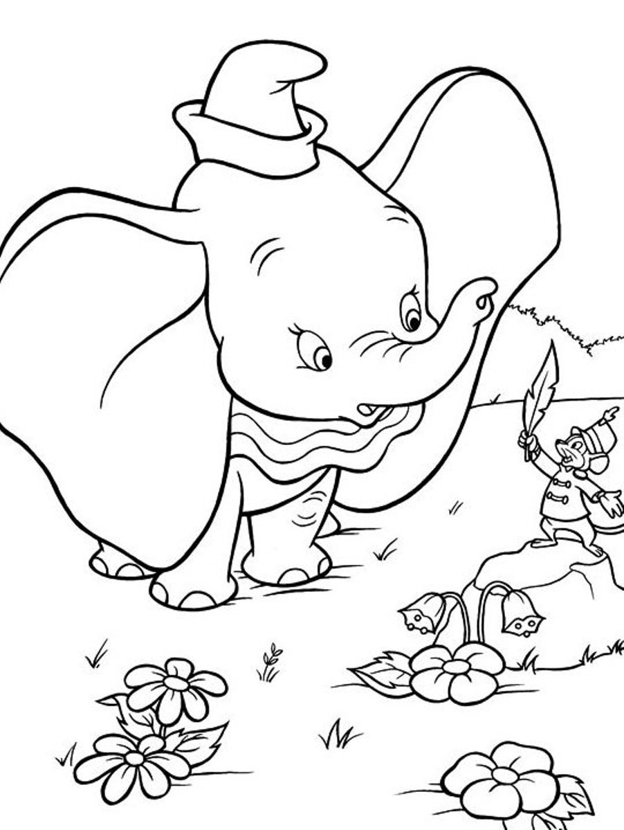 Dumbo Coloring Pages to download