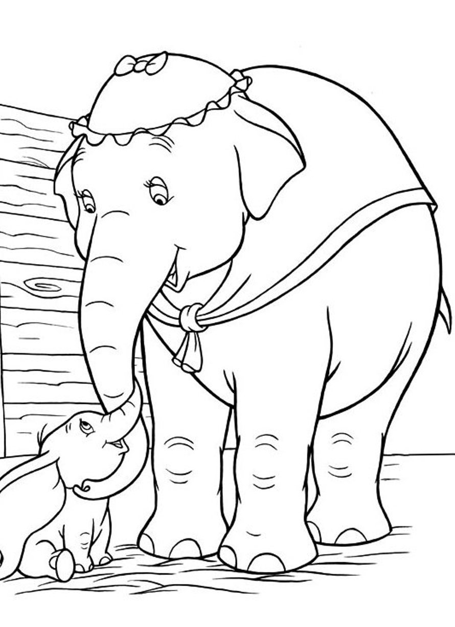 dumbo coloring pages free - photo#24