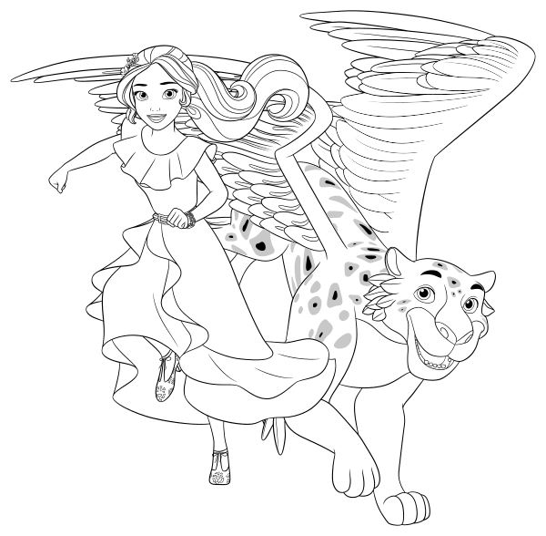 elena of avalor coloring pages - Elena Coloring Pages
