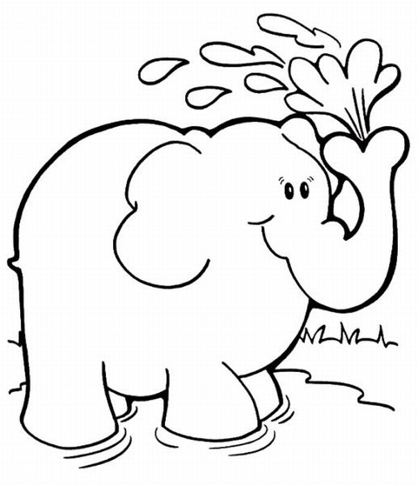 Pin elephant coloring pages for kids on pinterest for Coloring pages for kids elephant