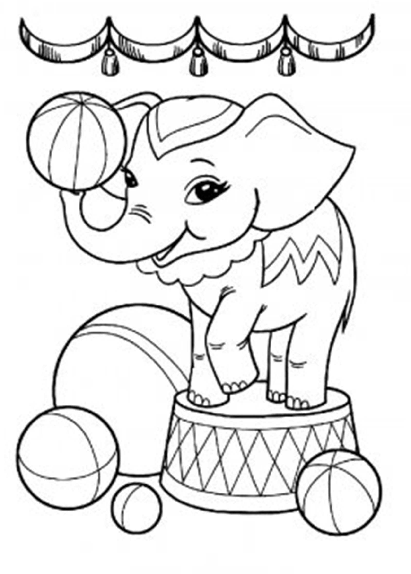 This is an image of Crazy Elephant Coloring Pages Printable
