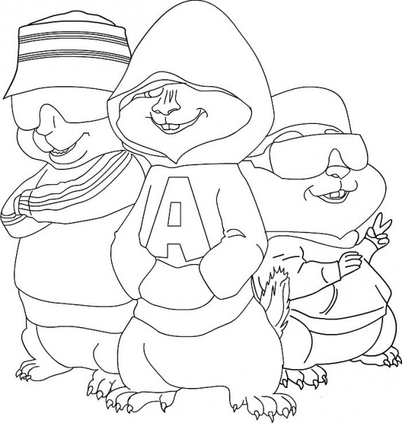alvin chipmunks coloring pages free-#25