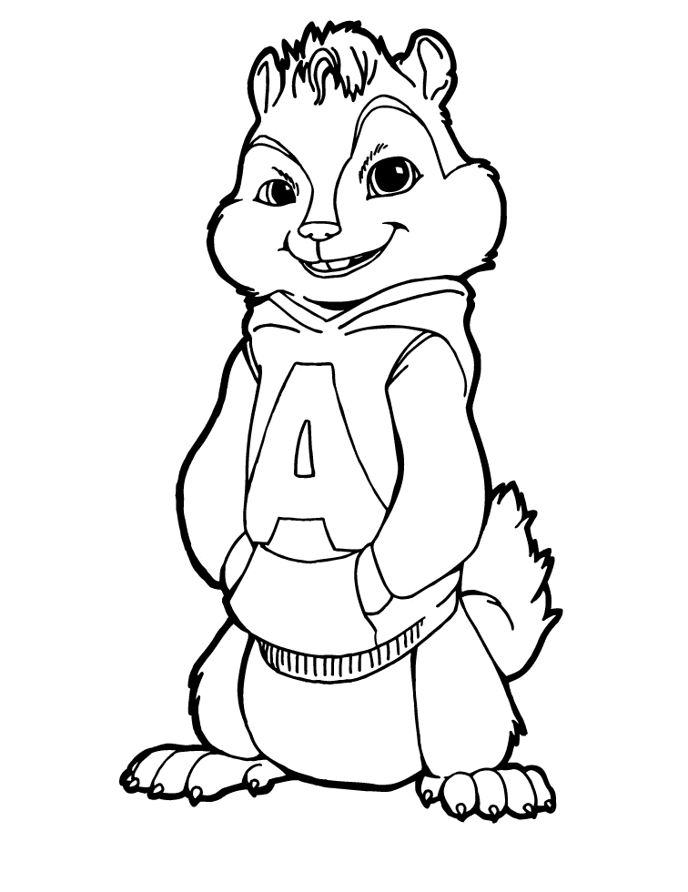 Coloring pages from Alvin and the chipmunks animated movie, 2-3 to ...
