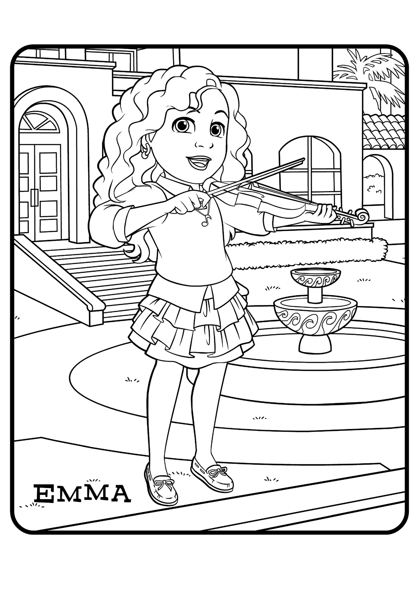 Emma In Bubble Letters Coloring Pages Of Names Sketch