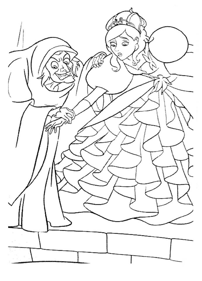 Enchanted coloring pages to download