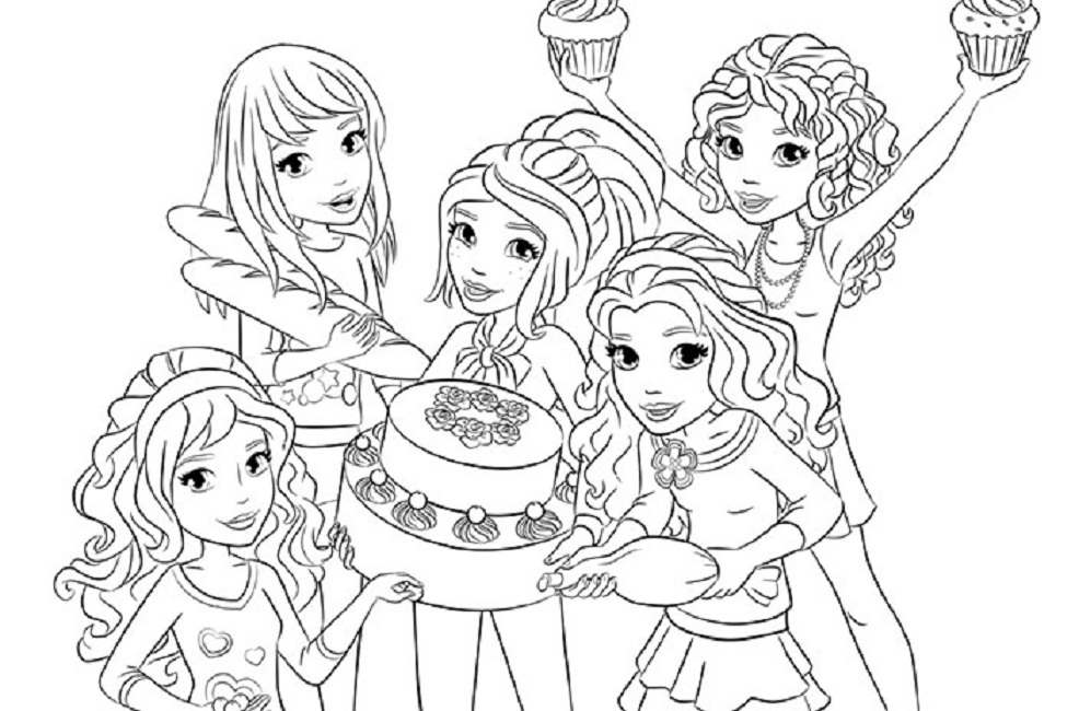 lego friends coloring pages to download and print for free - Lego Friends Horse Coloring Pages