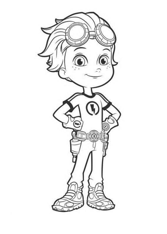 Rusty Rivets coloring pages to