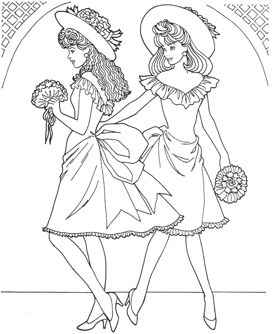 Top model coloring pages to download