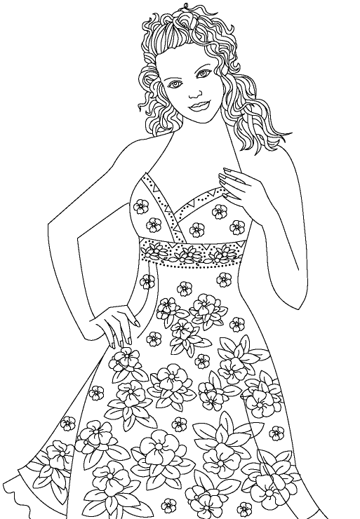 model coloring pages - photo#8