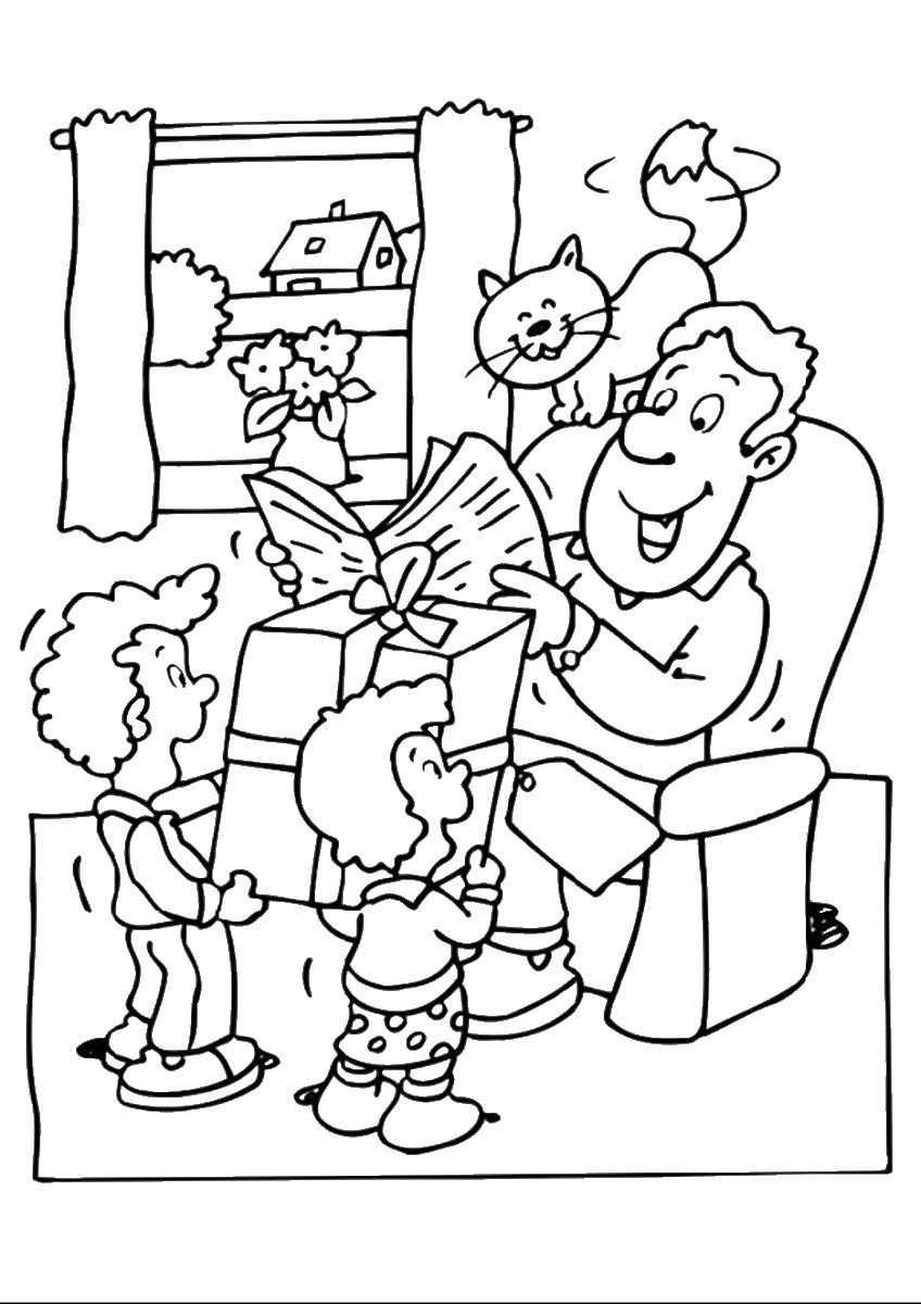 father u0027s day coloring pages for childrens printable for free