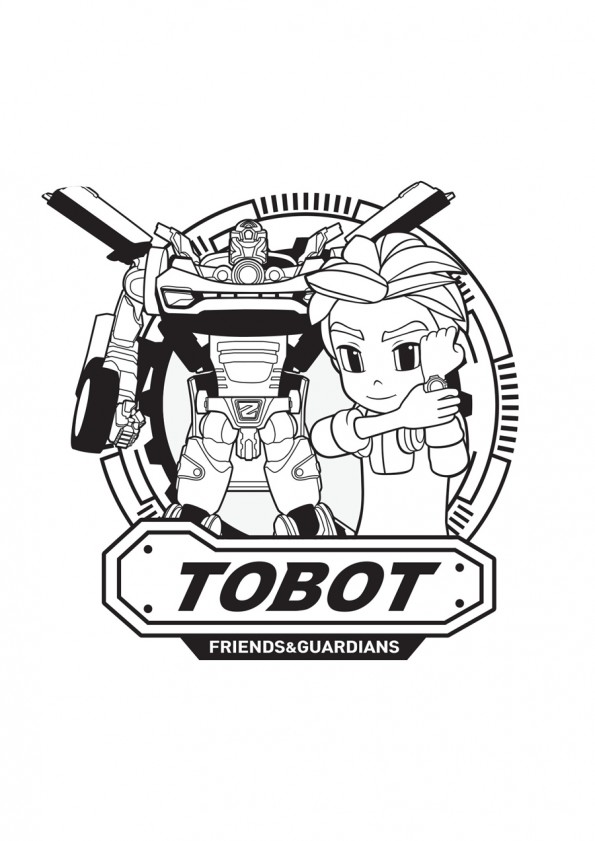 Tobot coloring pages to download