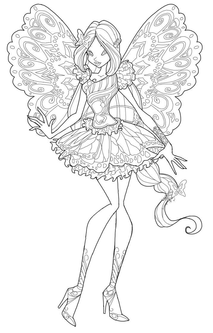 winx club tynix coloring pages - photo#17