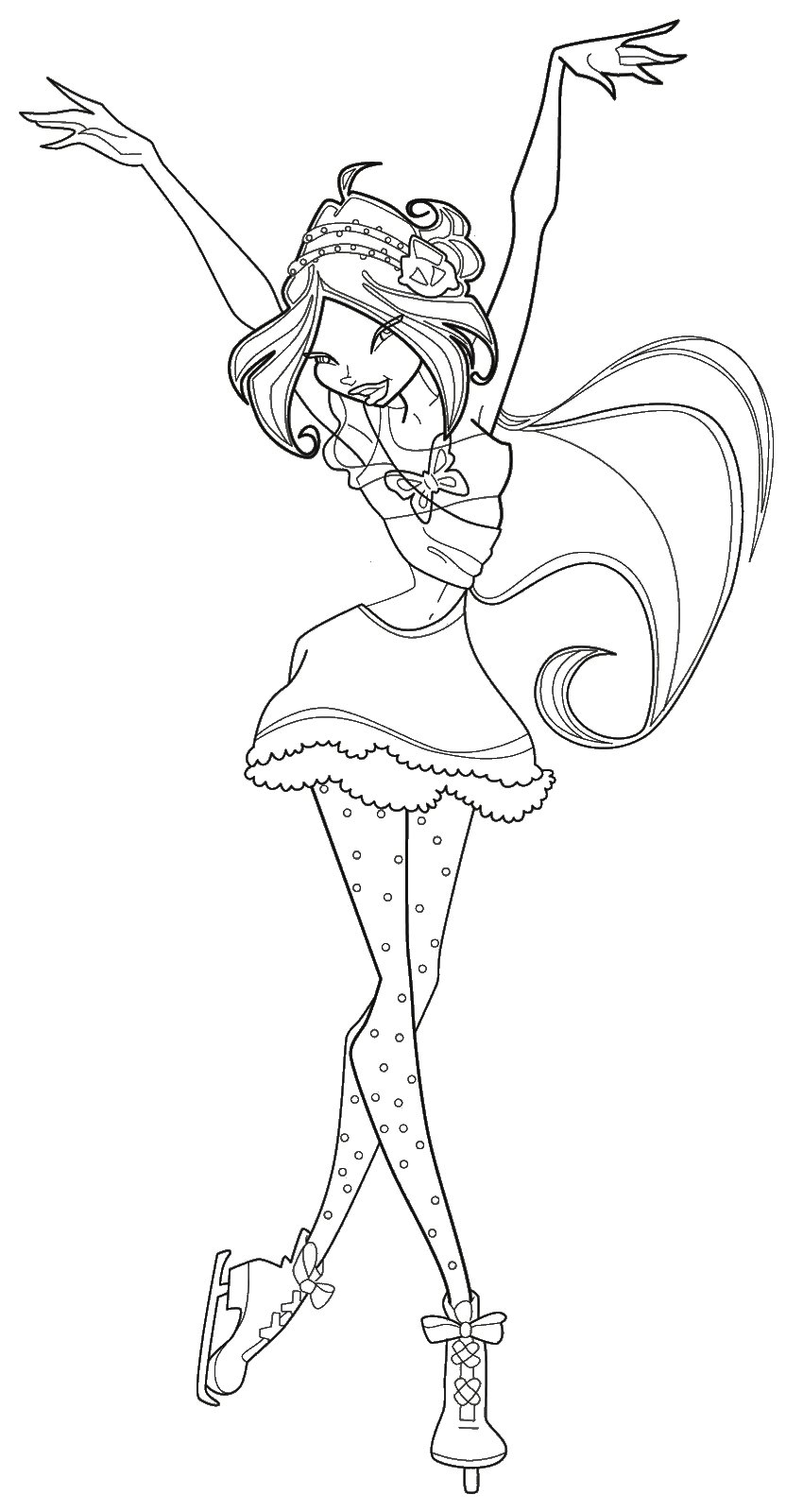 To Print Winx Flora Coloring Pages For Free Winx Flora Pictures