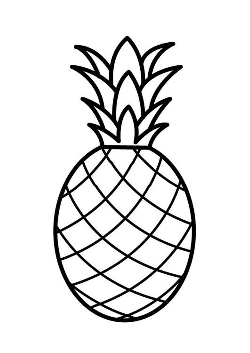 Fruit Coloring Pages for childrens printable for free