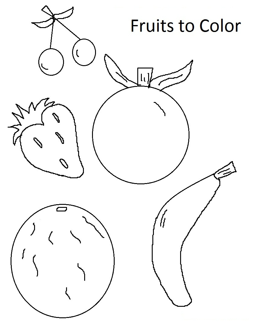 Fruit Coloring Pages For Childrens Printable Free