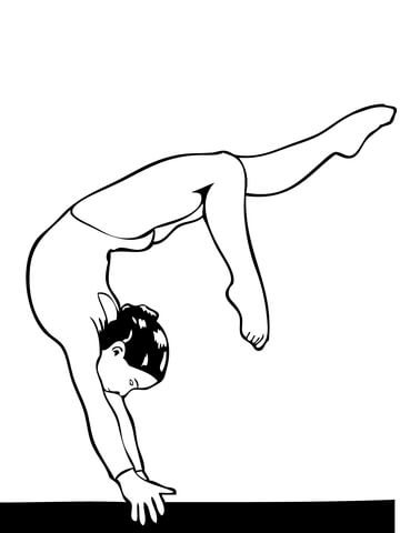 Gymnastic coloring pages to download and print for free