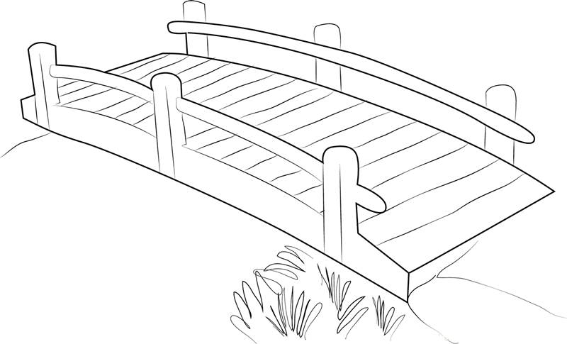bridge coloring pages for kids - photo#8