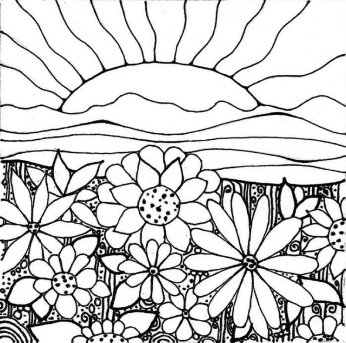 Gardening coloring pages to download and print for free for Flower garden coloring pages printable