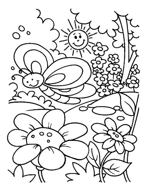 garden coloring pages preschool - photo#20