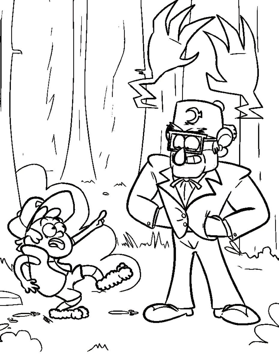 gravity falls coloring pages to and print for free