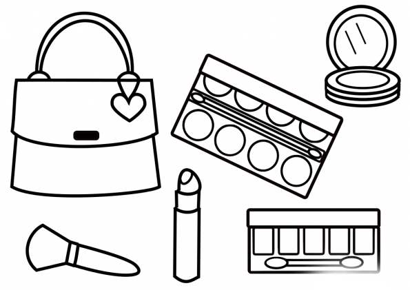coloring pages for makeup - photo#23
