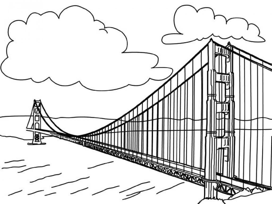 golden gate coloring pages - photo#19