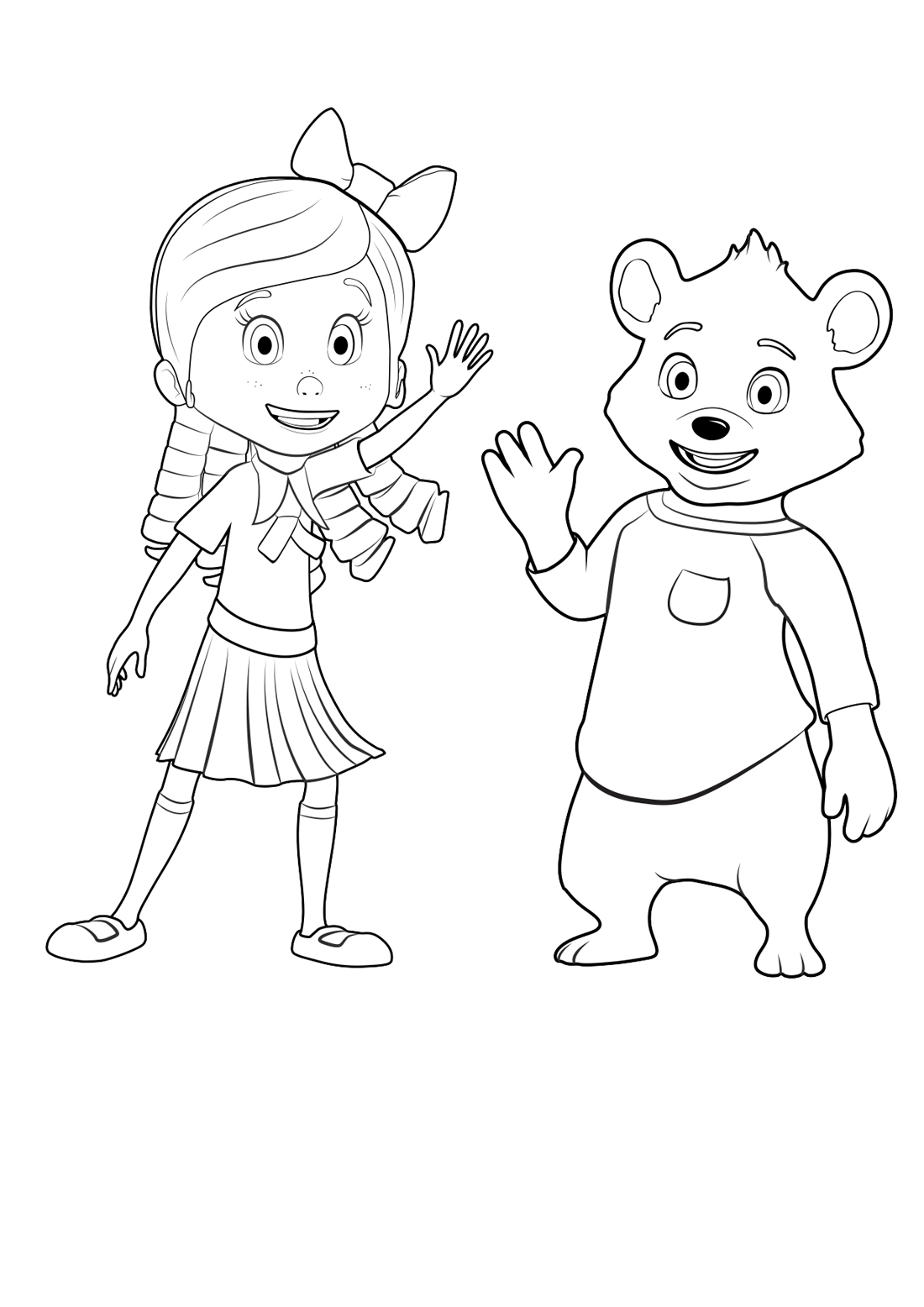 Goldie and bear coloring pages to download and print for free for Free bear coloring pages