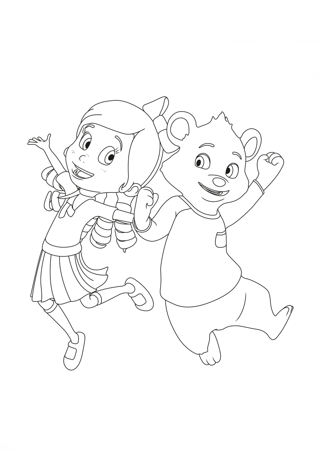 Goldie And Bear Print Coloring Pages