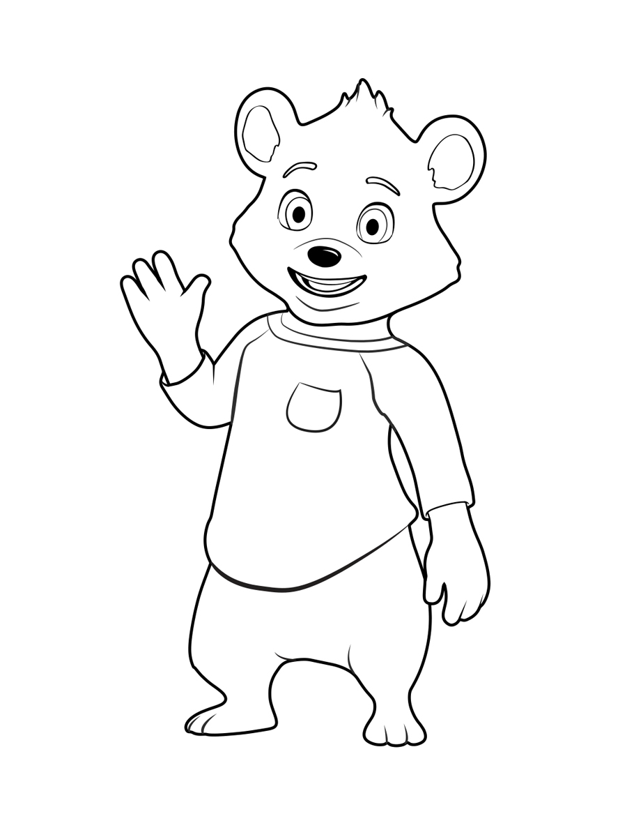goldie and bear coloring pages to download and print for free