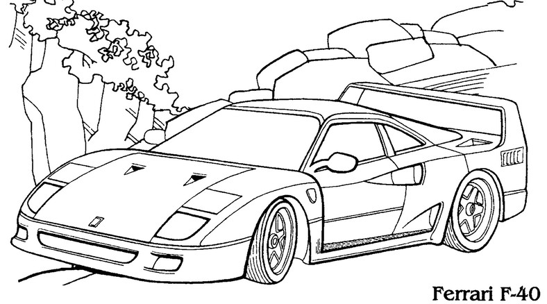 racing cars coloring pages to and print for free