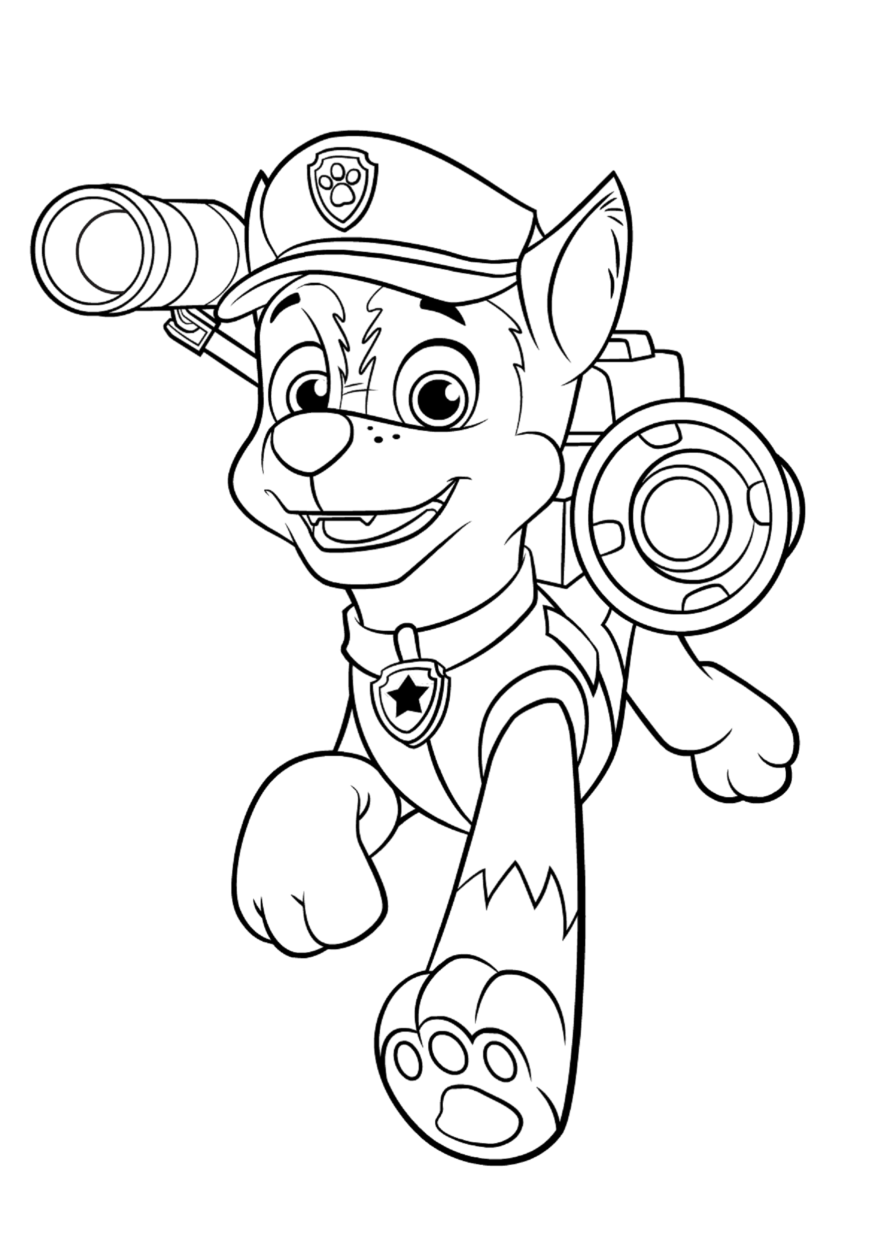 chase coloring page chase paw patrol coloring pages to download and print for free