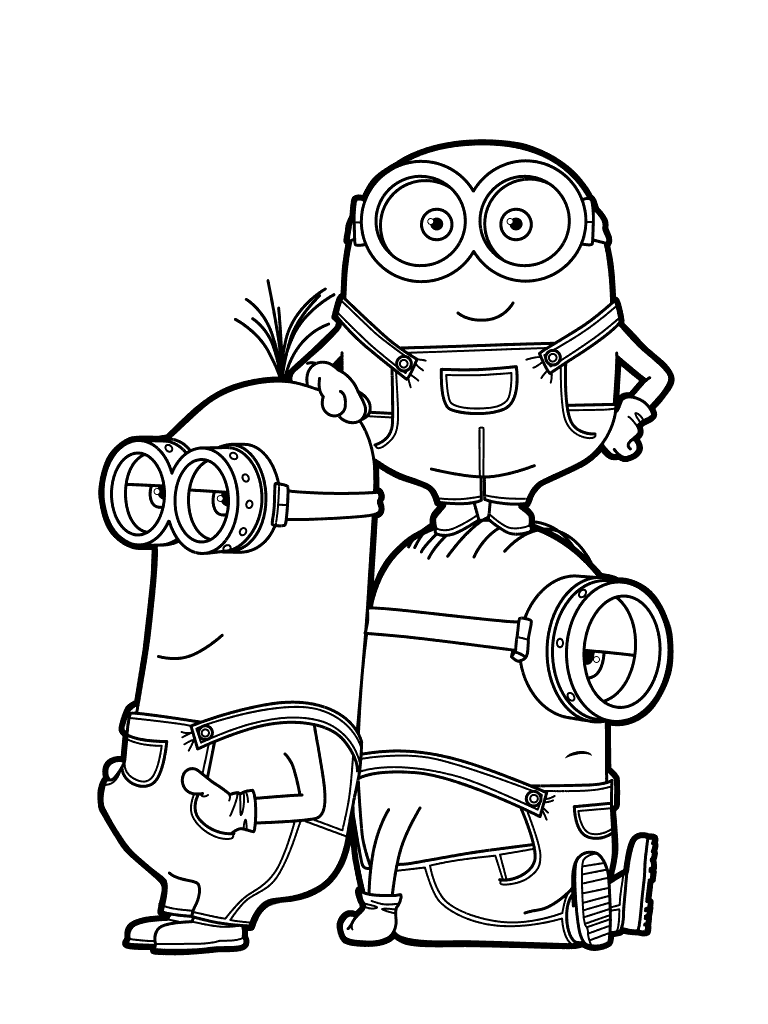 Despicable me 3 coloring pages to download and print for free for Despicable me coloring pages printable