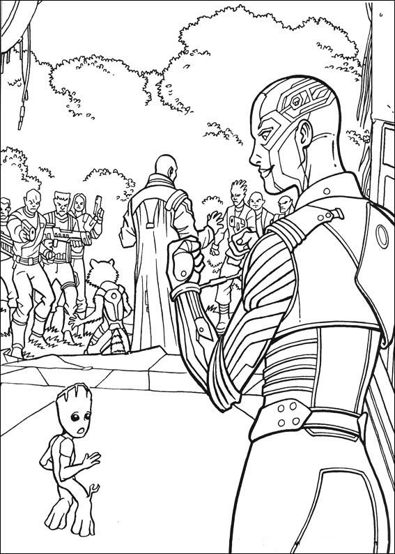 Guardians of the Galaxy coloring