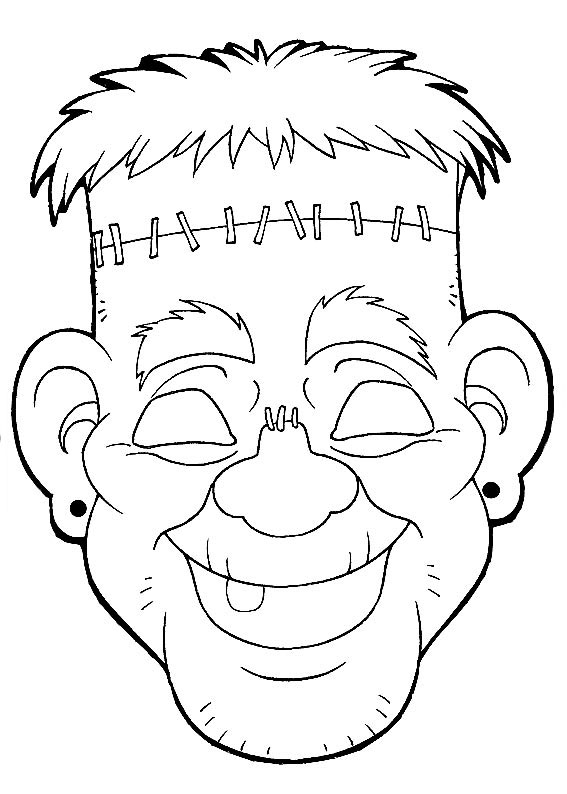 Halloween mask coloring pages ~ Halloween Masks coloring pages to download and print for free