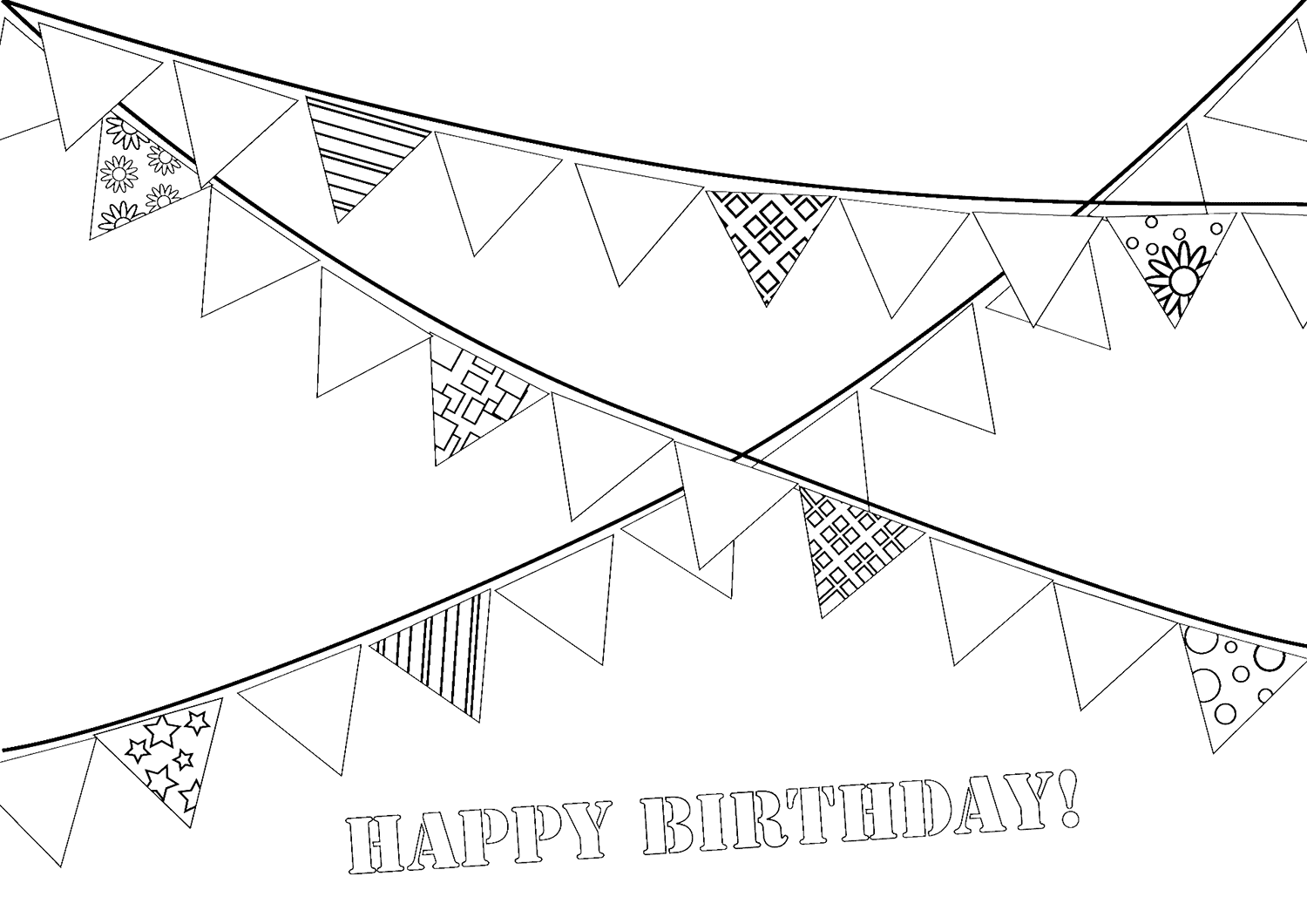 Garland coloring pages to download