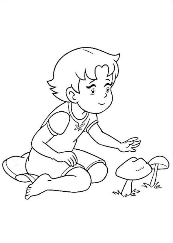 Heldi Girl Of The Alps Coloring Pages To Download And