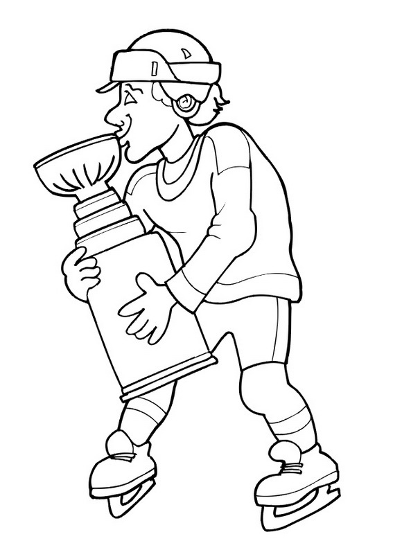 Hockey Player Coloring Pages To Download And Print For Free