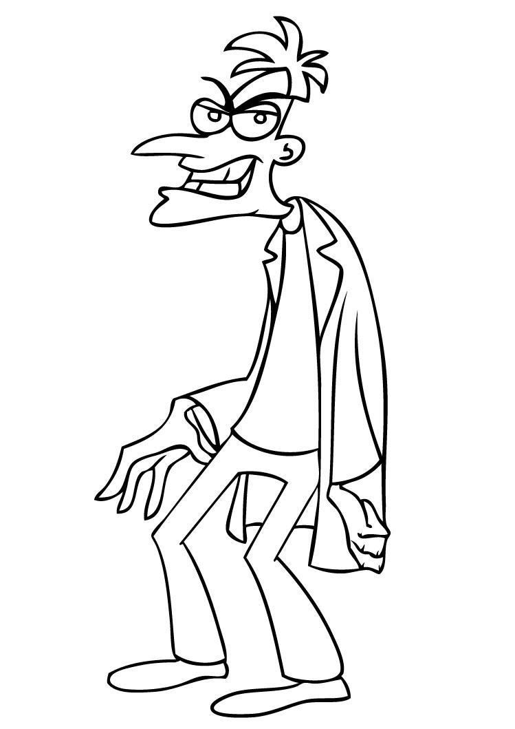 phineas and ferb coloring pages to download and print for free