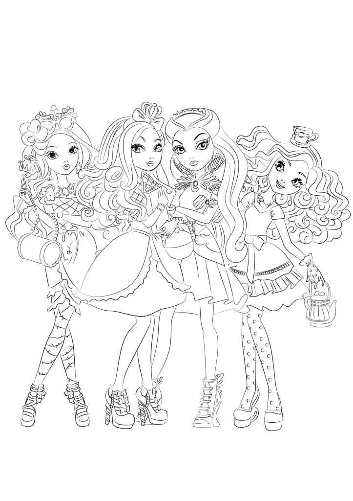 Www Monster High Kleurplaat Ever After High Coloring Pages To Download And Print For Free