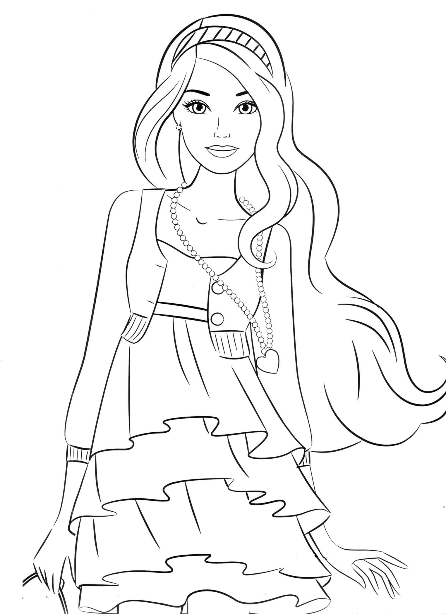 Free colouring pages for 10 year olds - Ladies Coloring Pages