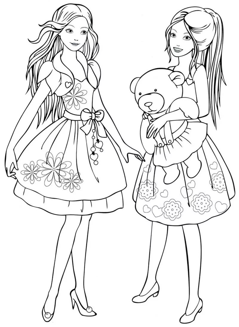 Coloring pages for 8,9,10 year old girls to download and print for free