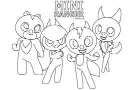 Mini Force coloring pages to download