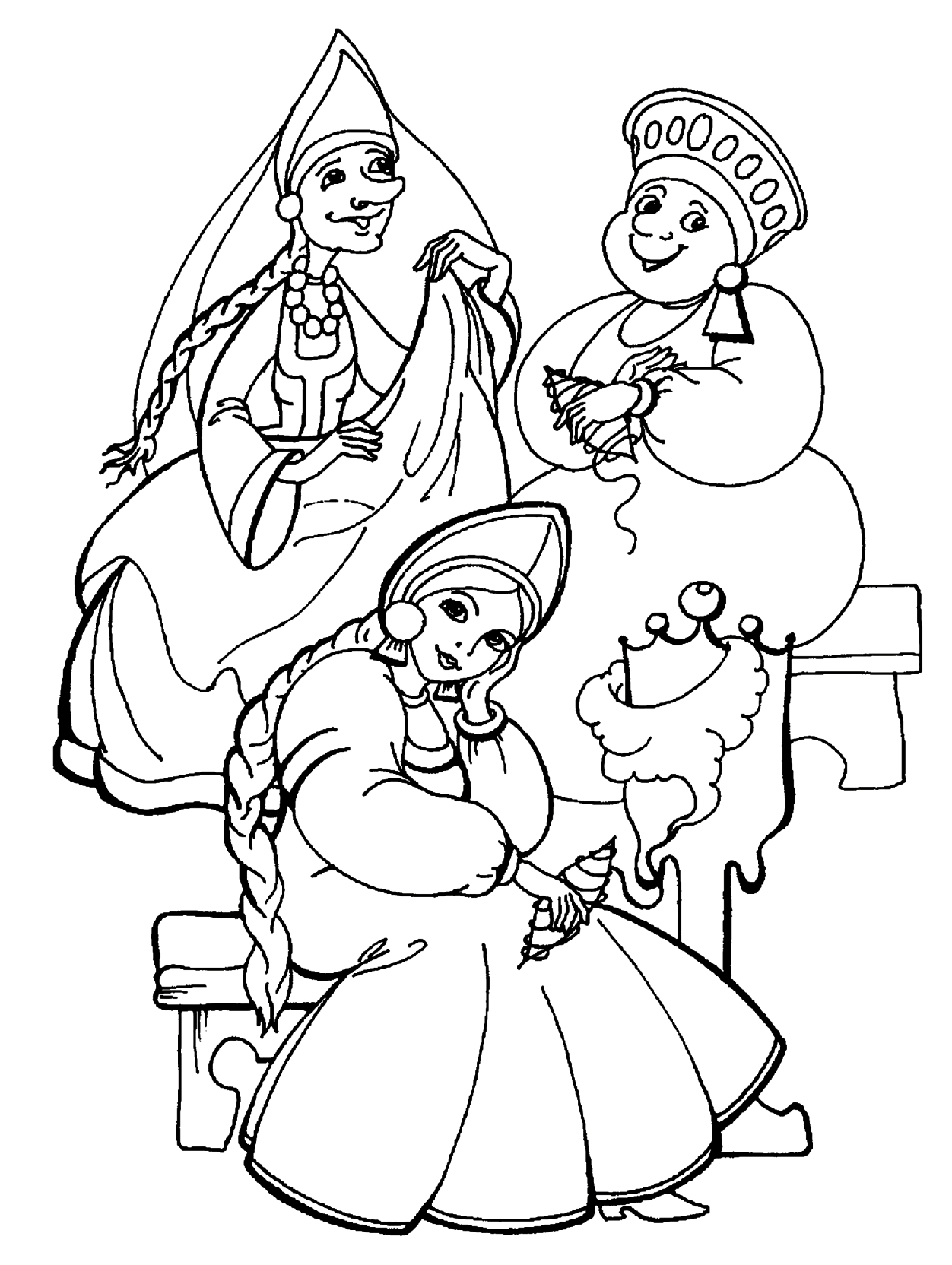 sisters coloring pages - photo#32