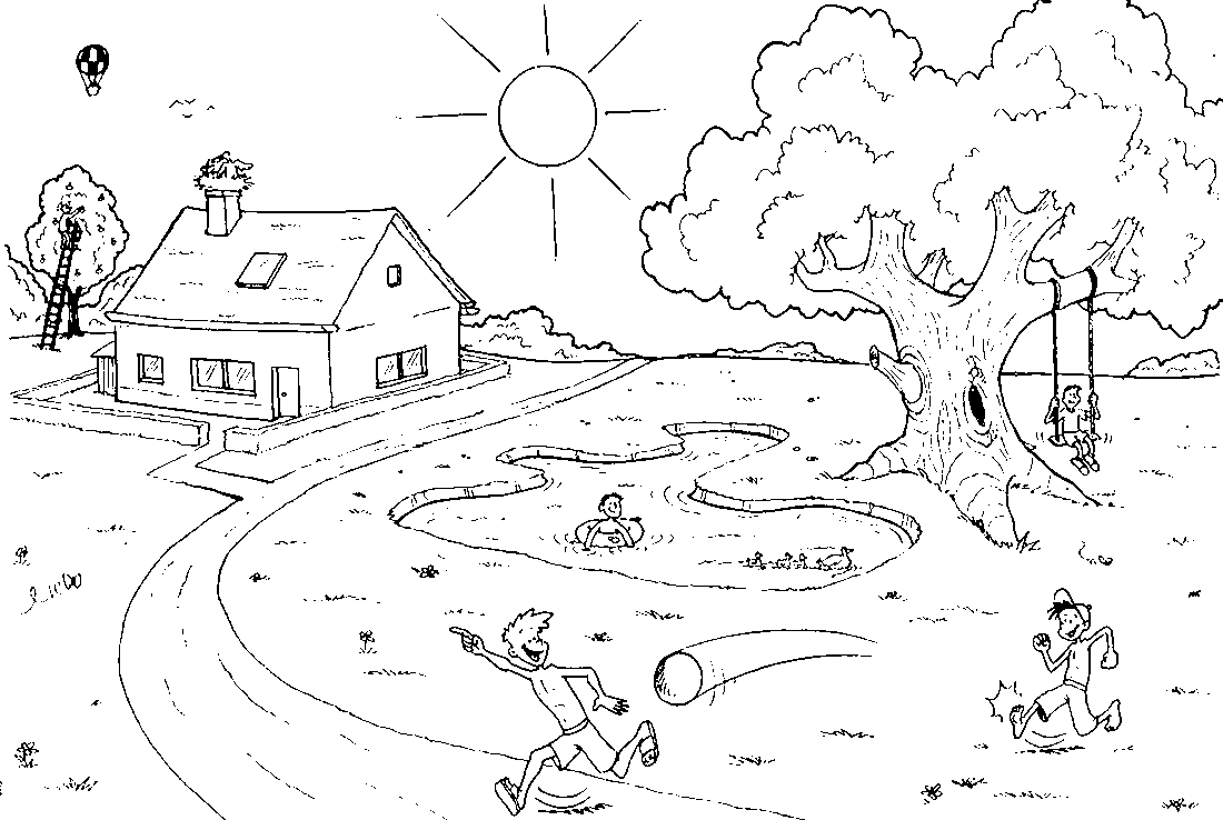 Summer landscape Coloring Pages to download and print for free