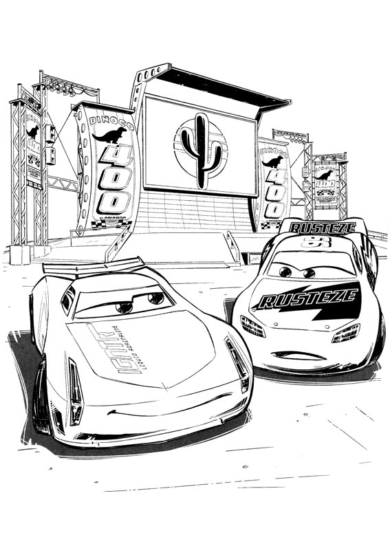 Cars 3 coloring pages to download