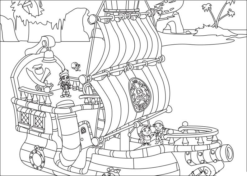Jake and the Never Land Pirates coloring pages to download and print