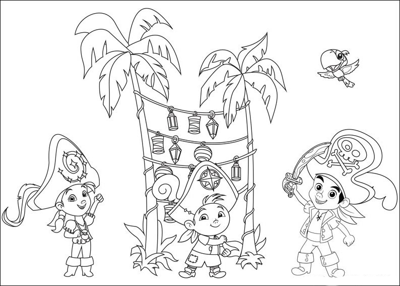 free jake and the never land pirates coloring pages to print for kids download print and color - Jake Neverland Coloring Pages