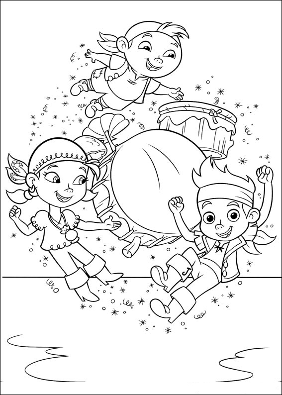 Jake and the never land pirates coloring pages to download for Jake the pirate coloring pages