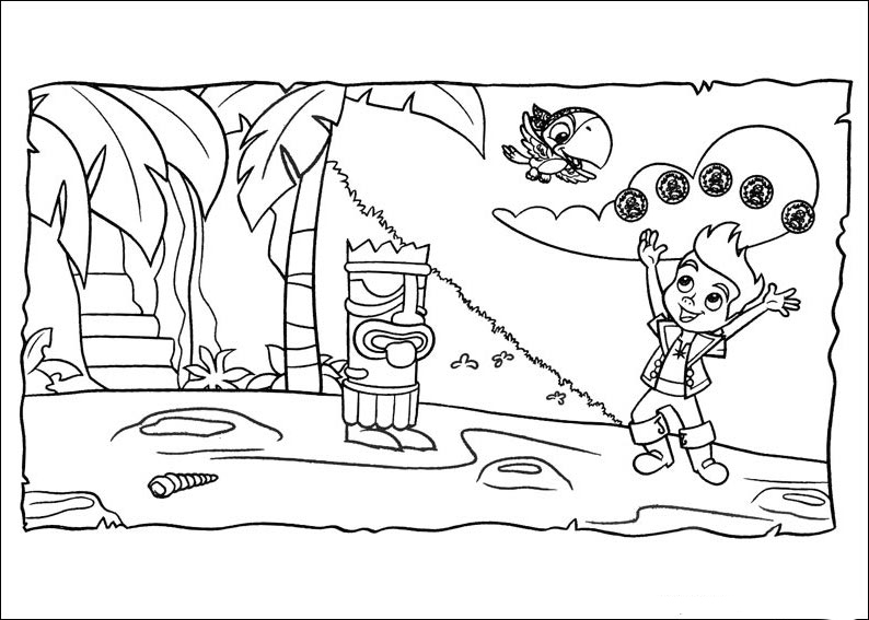jake neverland pirates coloring pages decimamas